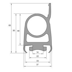 Lift/Port Profil Svart