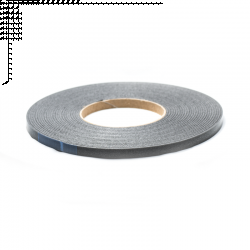 Glasbånd 9x2mm Sort med tape