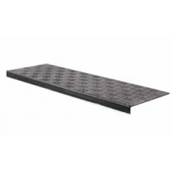 Trappemåtte checker 250x750mm Sort
