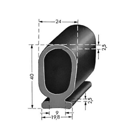Lift / Port profil 40mm - SVART
