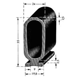 Lift / Port profil 55mm - SVART