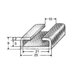 Skena i aluminium - 21/10mm