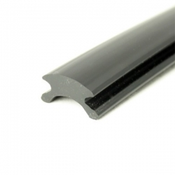 Inläggslist - PVC114 - Svart