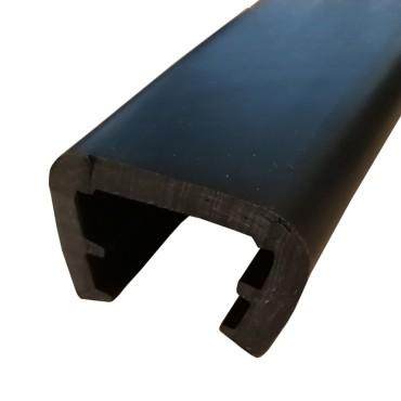 Relingslist - 42x30mm - SVART