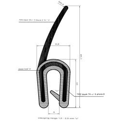 Kantlist med topptätning - 2-3mm - 2049DU