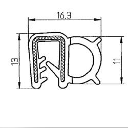 Kantlist 1-4mm Svart Silikon
