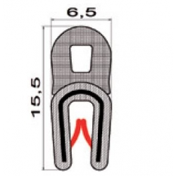 Kantlist 0,5-2mm m. topptätning