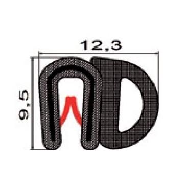 Kantlist 0,5-2mm m. sidotätning