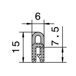 Kantlist 0,5-1,5mm m. topptätning
