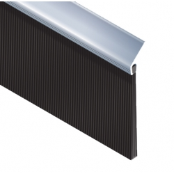 Borstlist 45 Gr. i aluminium 30mm - 3 meter