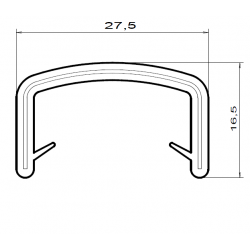 Kantlist - 17-20mm - PVC - SVART