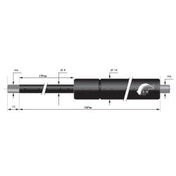 Gasfjäder 150mm 8/18mm