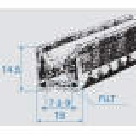 Kanalliste 10mm m.børster
