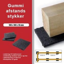 Avstånd bitar granulat 100x100x10mm