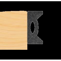Glasband 6x10mm - SVART
