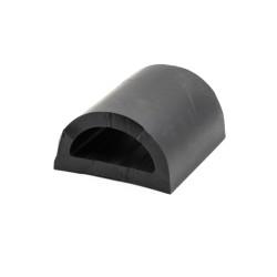 D-formad relingslist  - PVC898 - SVART