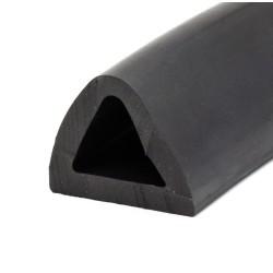 D-formad relingslist - 60x50mm EPDM