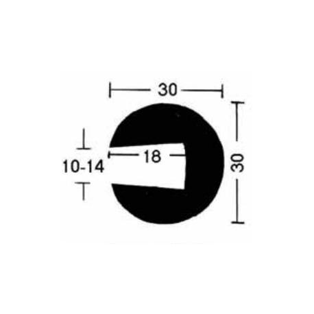 Relingslist - DK57003008 - SVART