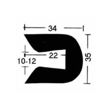Relingslist - DK57003009 - SVART