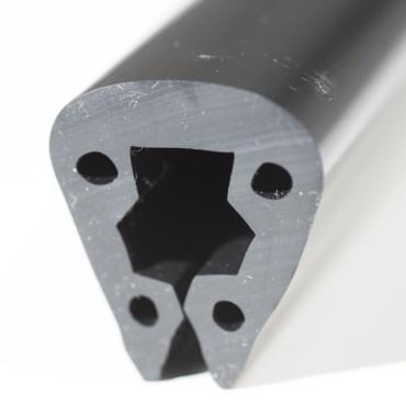 Relingslist - PVC6 - SVART