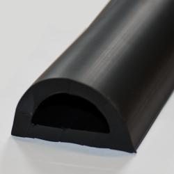 D-formad relingslist - PVC2379 - SVART