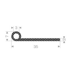 P-Profil 30mm dia.10mm